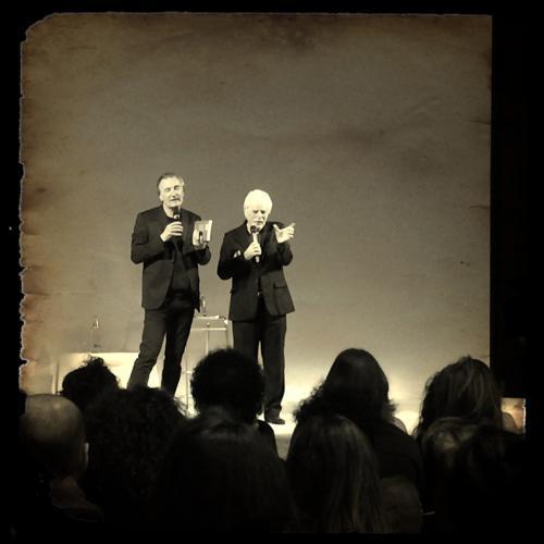 """Antonio Bertoli e Alejandro Jodorowsky alla presentazione di """"Viaggio essenziale"""", Milano Marittima 2014"""