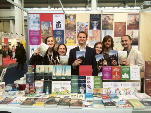 Gabriele Policardo e lo staff al Salone del Libro di Torino, 2016