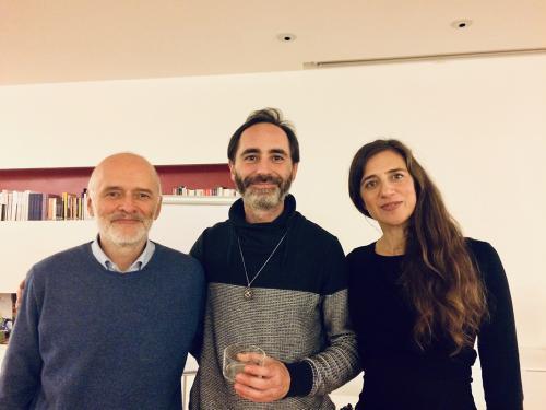 """L'editore con Francesco Alessandrini e Roberta Rio, autori de """"La via del corpo"""""""