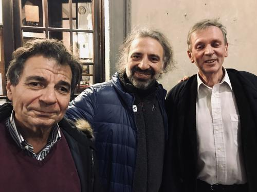Corrado Malanga, Stefano Boillani e Rupert Sheldrake, Firenze 2019